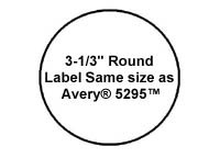 120 Label Outfitters 333333-20, 3-1/3 inch Round Laser and Inkjet Printer Labels, 20 Sheets, 6 Labels per Sheet Photo #2