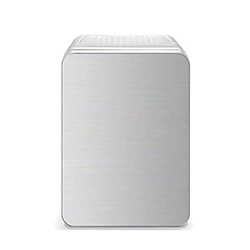 Mini nevera 10 litros 2 en 1 refrigeradores portátiles con función de refrigeración y calefacción, congelador de 12V / 220V para cosméticos, hogar, automóvil, oficina, mini-bar de camping, oro