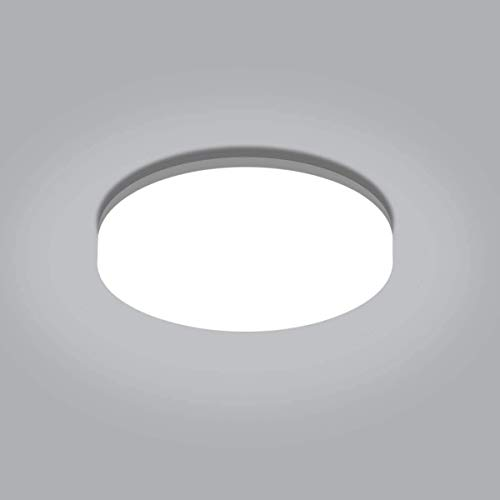 Lámparas de techo LED para baño, GLUROO 18W Impermeable IP65 Lámparas de techo LED redondas, Lámpara de techo empotrada equivalente a 100W, Lámpara de luz diurna 5000K Ideal para dormitorio Ø22CM