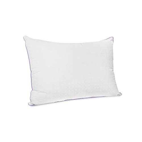 SensorPEDIC Wellness Collection Fiber Bed Pillow with Lavender Infused Fabric Cover, White, Jumbo (32204)