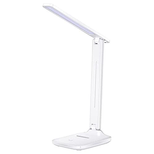 JJGS Lámpara De Escritorio De Protección Ocular, Lámpara De Escritorio LED con Puerto De Carga USB, Función De Memoria, Lámpara De Escritorio para Estudio, Lectura, Oficina Y Dormitorio