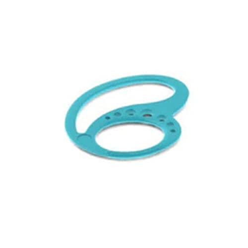 2 unids/lote mantiene auriculares Bluetooth auriculares deportivos auriculares protector seguro auricular anti caída de silicona clip de oreja (azul)