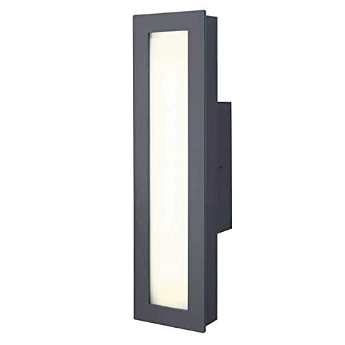 Heibi Wandleuchte MINUX Aluminium grau/Opalglas 8x8,5x33 cm LED Außenleuchte