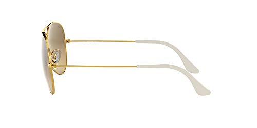 Ray-Ban Unisex-Adult Aviator Large Metal 0RB3025 Aviator Sunglasses, GOLD, 58 mm