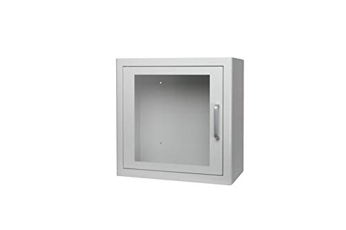 ARKY AED Defibrillator Wandschrank universal grün oder weiß mit Alarm 38 x 38 x 20 cm Metall (weiß)