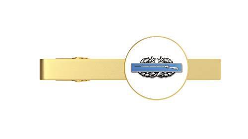HOF Trading Gold US Army Combat Infantry Badge 3rd Award Gold Tie Clip Tie Bar Veteran Gift