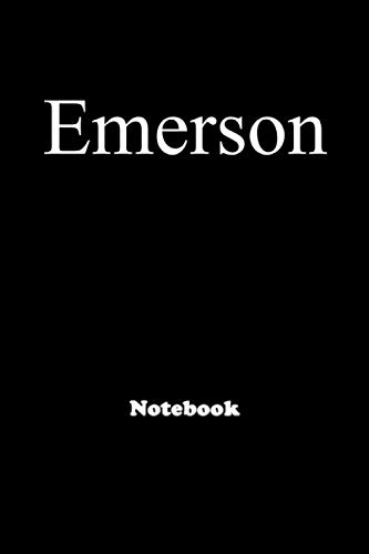 Emerson: Personalized Notebook with Custom Name & Cover . College Ruled Journal for men and Boys ,150pages