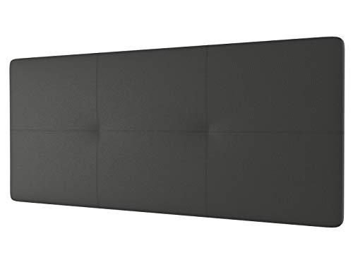 LA WEB DEL COLCHON - Cabecero tapizado Andrea para Cama de 150 (160 x 70 cms) Gris Ceniza