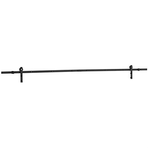 AmazonBasics AB-BDH104 Sliding Barn Door Hardware Kit-I-Shape Hanger, 10-Foot, Black