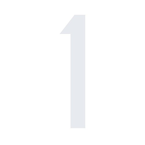 Mülltonnen Aufkleber Zahlen Sticker Folie & Ziffern kombinierbar (10 cm, Zahl 1, weiß)