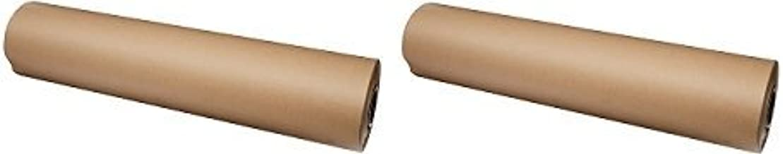 Brown Kraft Paper Roll 36 x 2400 Inches (200 Feet Long) 2 Rolls - 100% Recycled Material - Multi-Use for Crafts, Art, Gift Wrapping, Packing, Postal, Shipping, Dunnage & Parcel by Woodpeckers