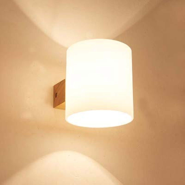 Nordic Wandleuchte Bett mit Schalter Rack Schlafzimmer Schlafzimmer kreative Holz moderne minimalistische japanische Wandlampe, A