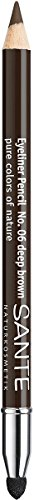 SANTE Naturkosmetik Kajal Eyeliner No. 06 deep brown, Kajalstift, Farbintensive cremige Textur,...