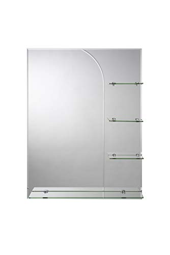Croydex Bampton - Espejo para baño con estantería