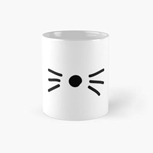 Dan Phil Cat Whiskers Classic Mug - A Novelty Ceramic Cups Inspirational Holiday Gifts For Morther's Day, Men & Women, Him Or Her, Mom, Dad, Sister, Brother, Coworkers, Bestie.