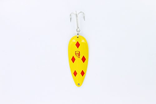 Original Dardevle Spoons (Yellow/Red Diamonds, 3/4 Ounce)