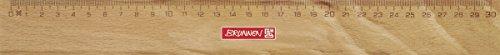 Brunnen 104974030 Lineal / Holzlineal (für Schule und Büro 30 cm, Buchenholz mit Metalleinlage)
