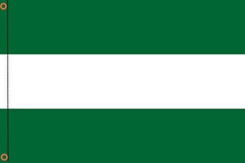DURABOL Bandera de Andalucía Sin Escudo flag 90x150cm SATIN 2 anillas metálicas fijadas en el dobladillo