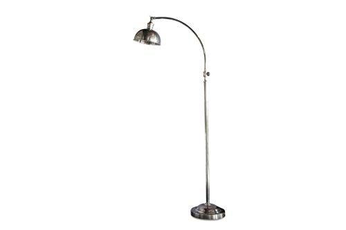 Hossegor Zilveren leeslamp - Tijdloos elegant, 100% metalen product | Perfecte eenvoud van een retro industrieel leeslampje met verfijnde details - Parelmoer-donkergrijs (L25 x H147 x P21 cm)