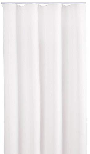 Bestlivings Blickdichte Gardine mit Kräuselband (140x175 cm/Weiß), in vielen Variationen