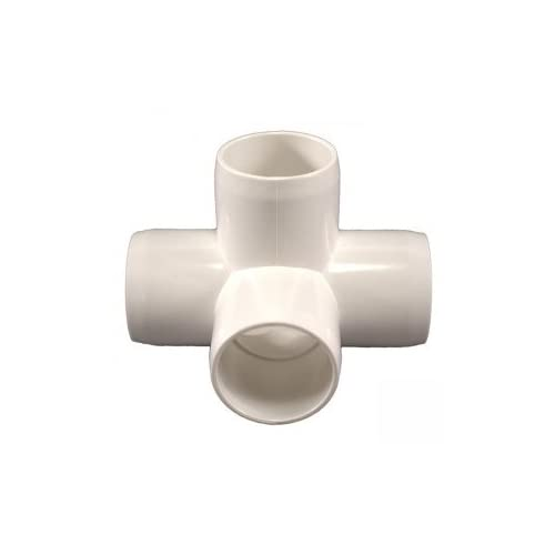 """16 Pack 3//4/"""" Furniture Grade 4-Way Side Outlet Tee PVC Fitting"""