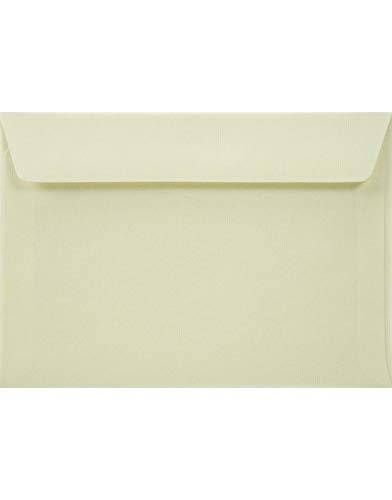 25 Elfenbein DIN C6 Briefumschläge aus Struktur-Papier 114x162mm 100g Acquerello Avorio Creme Briefkuverts aus Struktur-Papier Umschläge geripptes Papier Briefhüllen Creme strukturiert