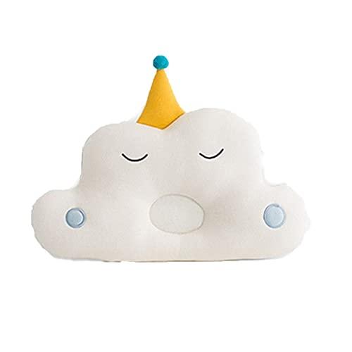 Soapow Prevención de cabeza plana de la protección de la cabeza del algodón de la malla respirable del bebé de la almohada 3D-aire para los recién
