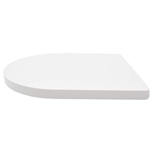 LUVETT® PREMIUM WC-SITZ D200 D-Form mit Absenkautomatik SoftClose® & TakeOff® EasyClean Abnahme, hygienisch & beständig: Urea Duroplast Toilettendeckel, rostfreier Edelstahl, Farbe:Weiß