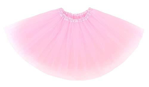 Ksnnrsng Gonne per Tutu per Adulti per Donne da Donna Fancy Dress Ballet Petticoat Hen Party Underskirts for Evening (Rosa)