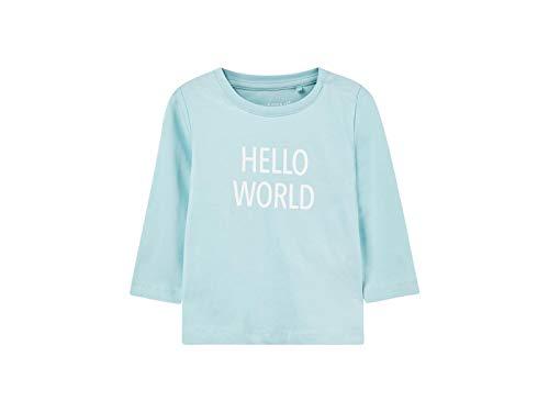 Name It Nbndelufido Ls Top Noos T-Shirt, Bleu (Canal Blue), 74 Mixte bébé