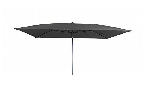 Doppler Absolut wasserdichter Gartenschirm Waterproof 230x190 ohne Volant, UV-Schutz 50 Plus, Farbe anthrazit
