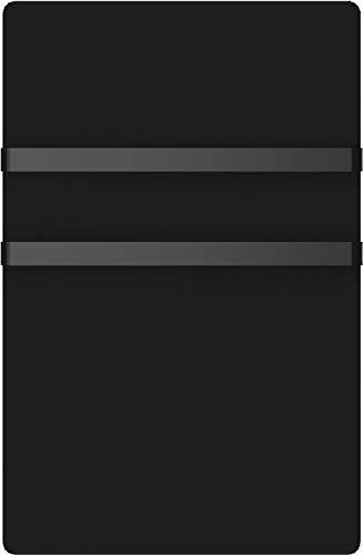 VOLTMAN VOM540019 - Sèche serviettes électrique rayonnant - En verre trempée Noir - 1000 Watts - Détection d'ouverture et de fermeture de fenêtre