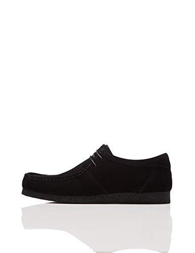 find. Suede Mocasines, Negro Black, 42 EU