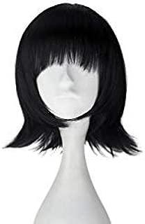 Unisex Synthetic Short Straight Bob Hair Adult Lolita Cosplay Costume Wig Halloween (Jet black)