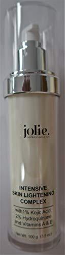 Jolie Intensive Skin Lightening Complex - Face + Body Dark Spot Corrector Brightening Cream - Dermatologist Developed- 2% Hydroquinone, 1% Kojic Acid, Vitamins A, C and E 3.5 oz