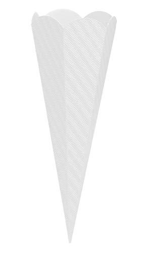 goldbuch Bastelschultüte 6-eckig, Rohling zum Selbsgestalten, Mit Steckverschluss zum Zusammenstecken, 68 cm, Weiß, 97856