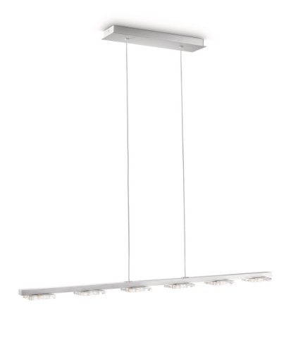 Philips Suspension LED Cam Lampe de Salon Aluminium Métallique 6 x 25 W