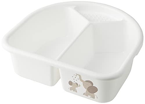 Rotho Babydesign Waschschüssel, 4l, Ab 0 Monate, Modern Elephants, Bella Bambina, Weiß, 200060001CG