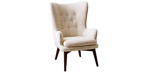Charming Wing Back Chair in Beige Colour