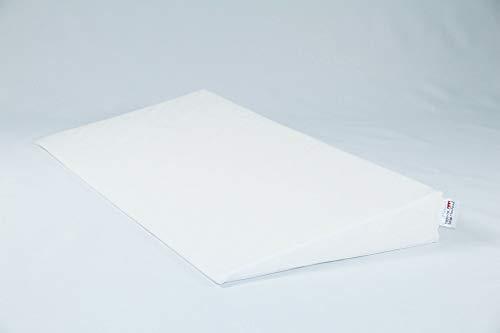 Fränkische Schlafmanufaktur Keilkissen Bettkeil Poly 9/1cm mit Bezug, Farbe Weiß, Breite 180cm