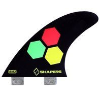 SHAPER FINS FCS CORE-LITE AM3 BLACK THRUSTER by Shapers Surf Fins
