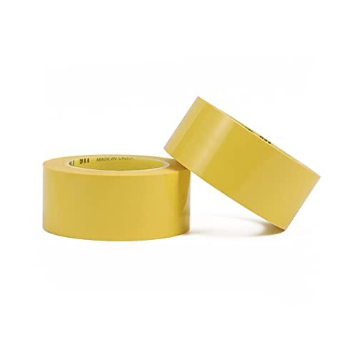 BFSHY 2 Pack Amarillo De La Cinta De Marcado De Piso De Servicio Pesado, para Asfalto, Concreto, Pavimento Y Superficies Más Lisas, 1,9 Pulgadas X 98 Pies