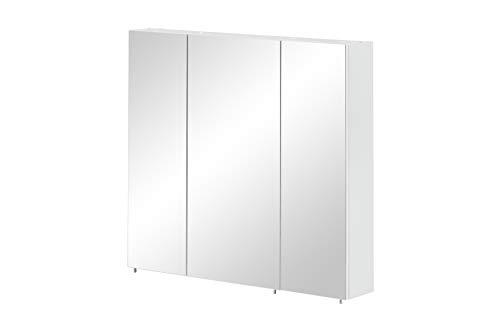Schildmeyer Basic Spiegelschrank, Melaminharzbeschichtete Spanplatte, Weiß, 70 cm