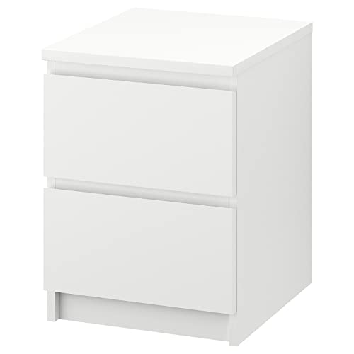 Ikea Malm–Cassettiera a 2cassetti, 40x 55cm, Colore Bianco