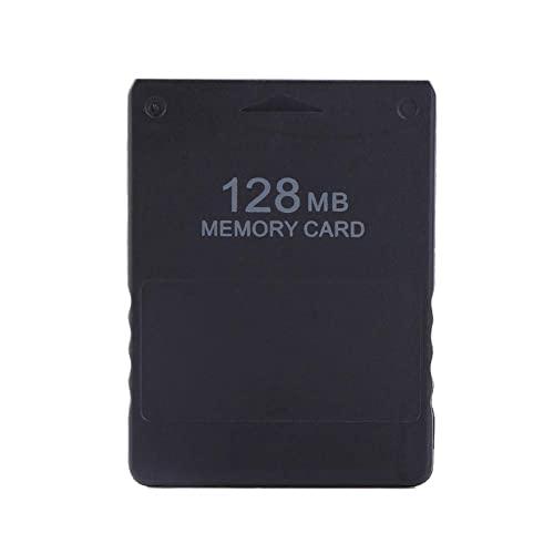 Hakeeta Memory Card per PS2, 8M-256M Game Memory Card ad Alta velocità per Sony Playstation 2 PS2.Giochi Accessori per Salvare Giochi e Informazioni(128M)
