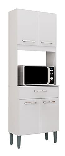 SZ Suarez Buffet Cocina Lusaka Color Blanco 1 cajón alacena Mueble Auxiliar Moderno almacenaje 172x60x31 cm
