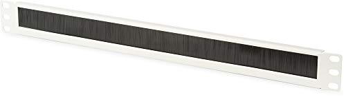 DIGITUS Kabel-Durchführung mit Bürstenleiste - 1HE - 19-Zoll - Netzwerk-Schrank - Patch-Kabel - Grau