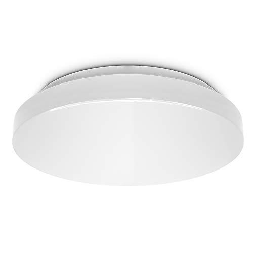 B.K.Licht 12 Watt LED Badezimmerlampe I IP44 Spritzwasserschutz I 4000K neutralweiße Lichtfarbe I 1200lm Helligkeit I LED Deckenleuchte I Badlampe I LED Deckenlampe I Größe: M I Ø29cm