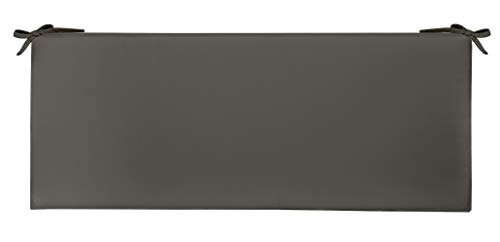 RSH Décor Indoor Outdoor 3' Foam Bench Cushion with Ties, ( 72' x 18' x 3' ) Choose Color (Charcoal)