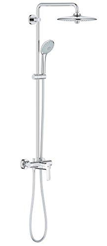 Grohe 27473001 Euphoria 260 - Sistema de ducha con grifo monomando, alcachofa SmartControl de 260mm con treschorros y teleducha de 110mm con treschorros
